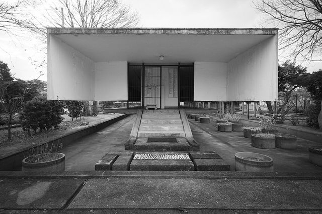 Toku'un-ji Temple Ossuary, Fukuoka  Kiyonori Kikutake, 1965