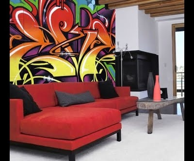 Probably would get a color headache with the painting, but the couch, sofa, whatchamacallit-thingy, I ADORE!!! :)