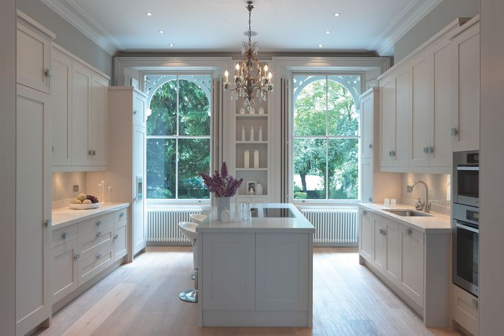 mowlem classic kitchen with chandelier kitchen