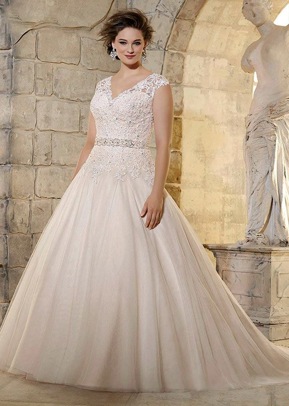 Lovely Full Bodied Wedding Dresses for Plus Size Brides in Image