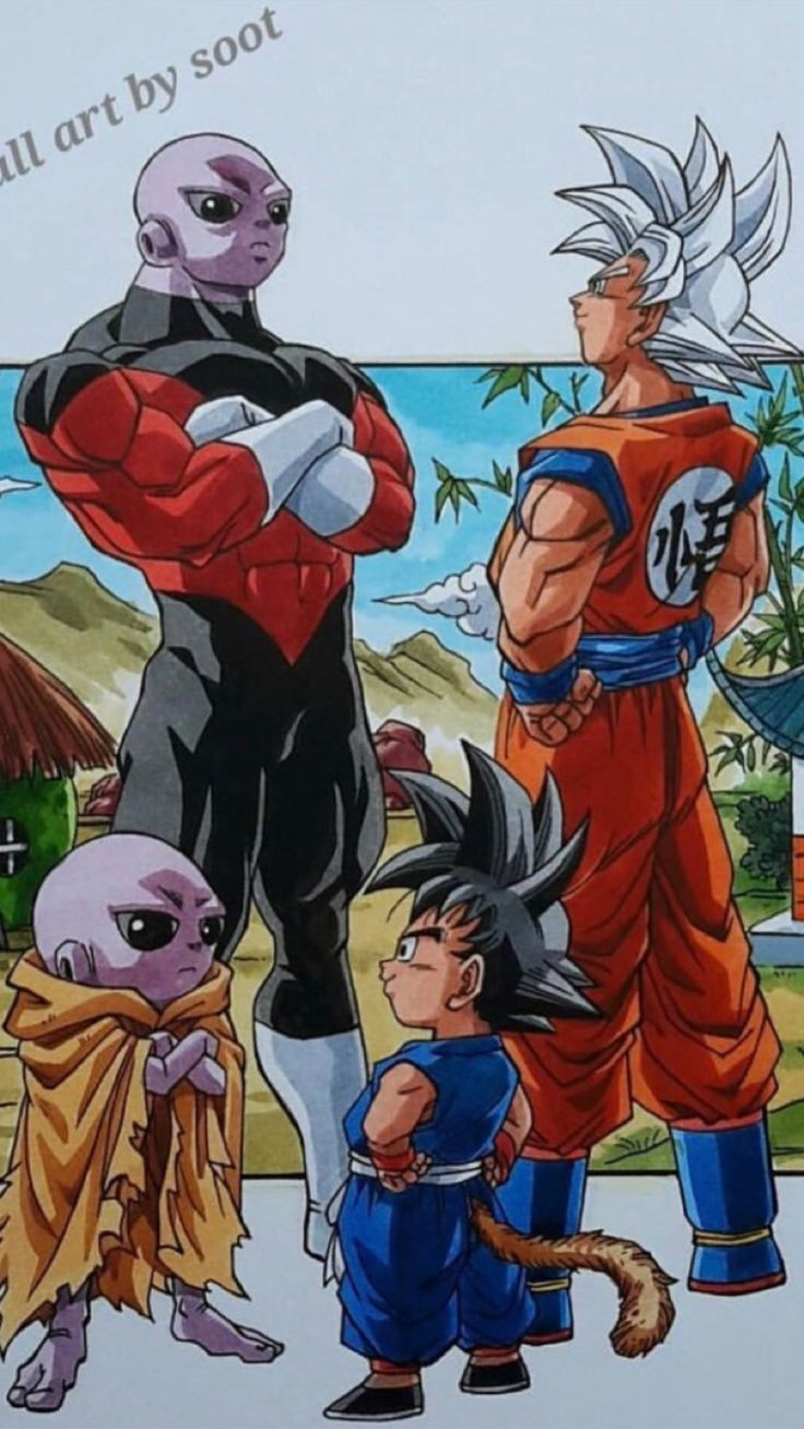 Wen.. Cuando ni de pequeño crees poder ser alguien bueno.,solo mira a estos y escoge.. O Jiren o Goku... Yo Goku