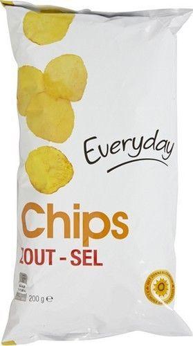 EVERYDAY chips sel 200gr  Référence: CHP1032 EVERYDAY chips sel sont des chips de pommes de terre salées, idéale à l'apéritif ou à grignoter à tout moment de la journée. moment détente avec www.chockies.net