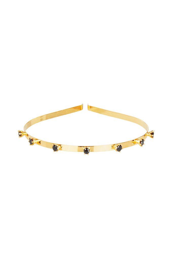 Venezia Crown in Black Garnet and Gold – Kate McCoy