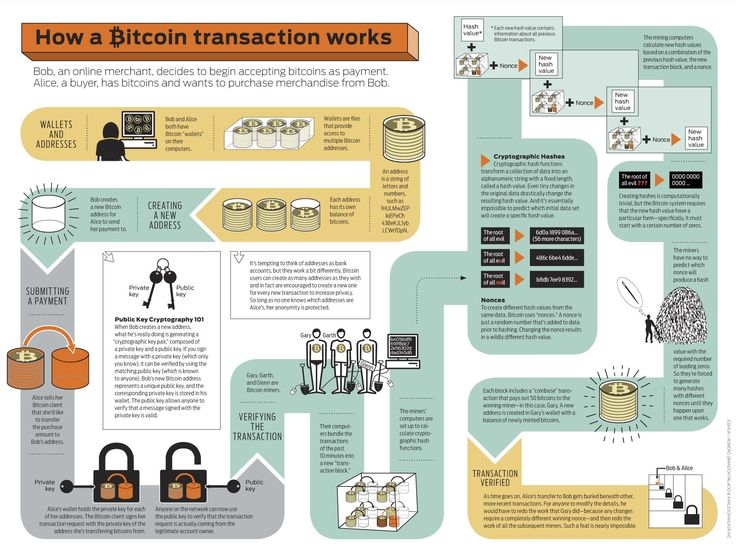 How a Bitcoin transaction works.  Bob, an online merchant, decides to begin accepting bitcoin as payment.  Alice, a buyer, has bitcoins and wants to purchase merchandise from Bob.  http://coltenrouska.hubpages.com/hub/Bitcoin-the-Replacement-for-Digital-Transactions
