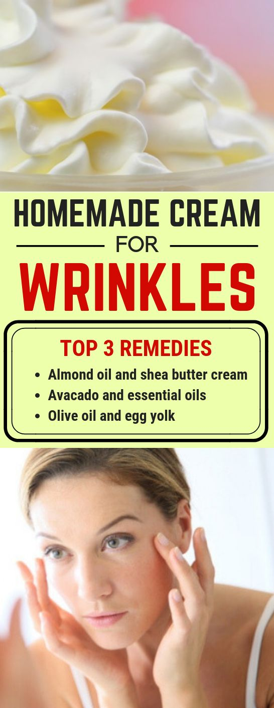 3 amazing homemade creams for removing wrinkles