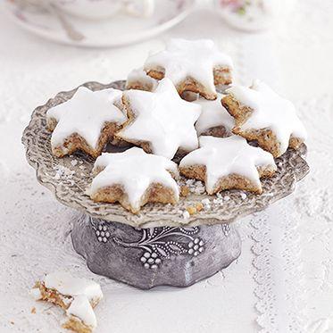 Zimtsterne mit Marzipan Rezept   Küchengötter