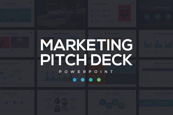 Marketing Pitch Deck PowerPoint by Rocketo Graphics on @creativemarket
