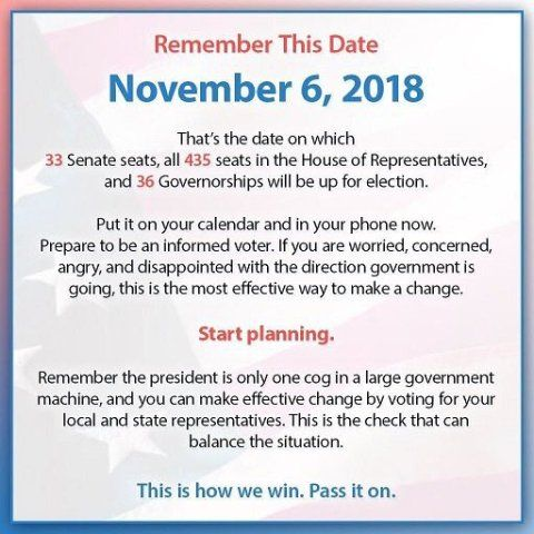 Every vote on that day is a vote that could potentially save lives. So go get your IDs updated now, because they are going to try and prevent you from voting. Talk to your boss and see if they are willing to let employees have extra time to vote that day or if they want to do a field trip. If someone calls and says your polling place is moved, remember it might be a scam. Go in groups if possible since horrible people are out there destroying democracy by attacking people trying to vote.