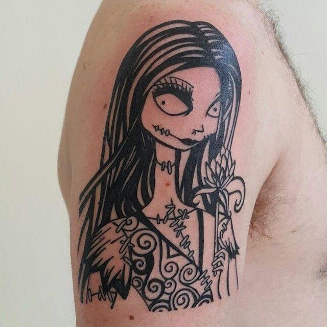 Tim Burton's Sally. Tattooed by Geoff Squires. #tattoo #southafrica #tattooartist #edenvale #timburton #timburtontattoo #tattoos #ink # inked #tatted #tattooart #inkedup