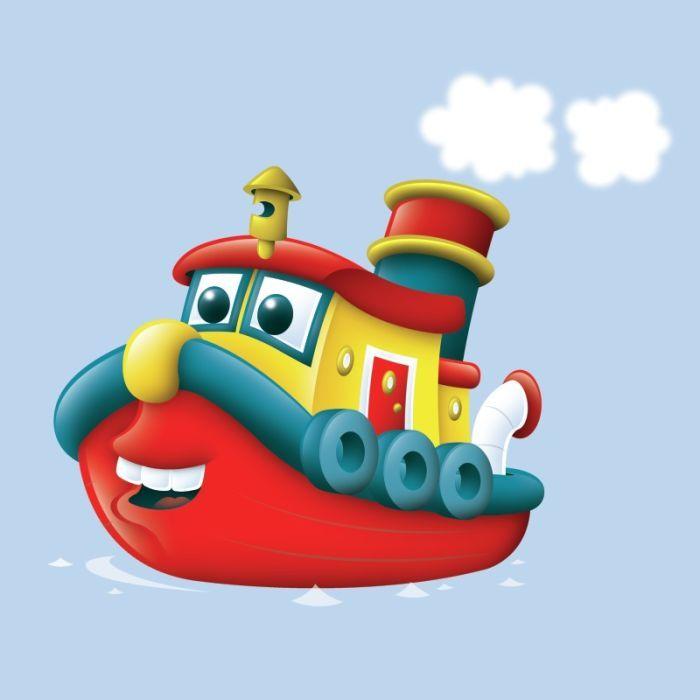Cartoon Tug Boats