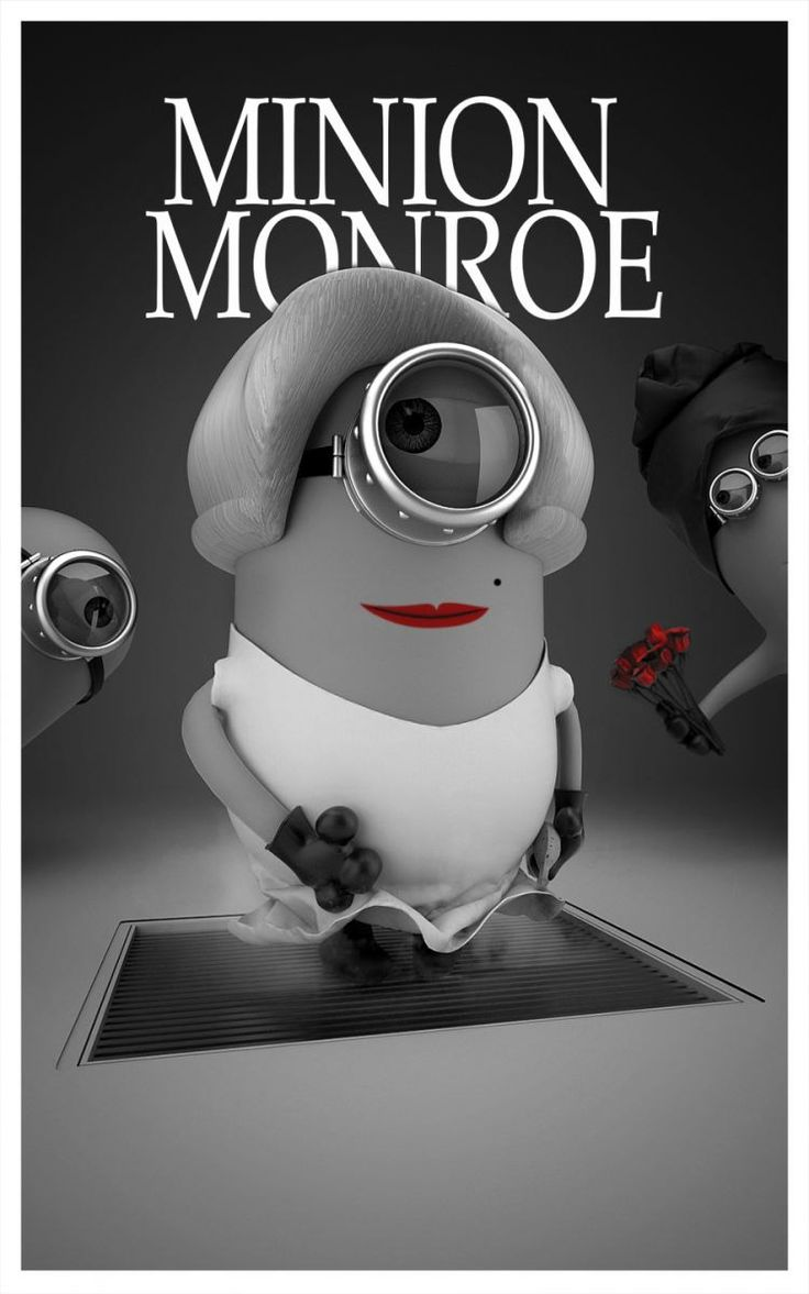 Minion Monroe. I would totally hang this in my room!!!
