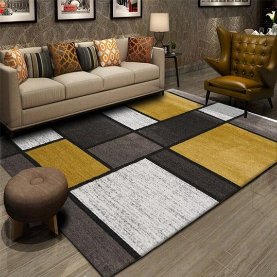 Contemporary Modern Boxes Design Area Rug Indoor Living Dining Room Floor Mat Modern Area Rug Modern Carpets Living Room Area Rug Decor Decor