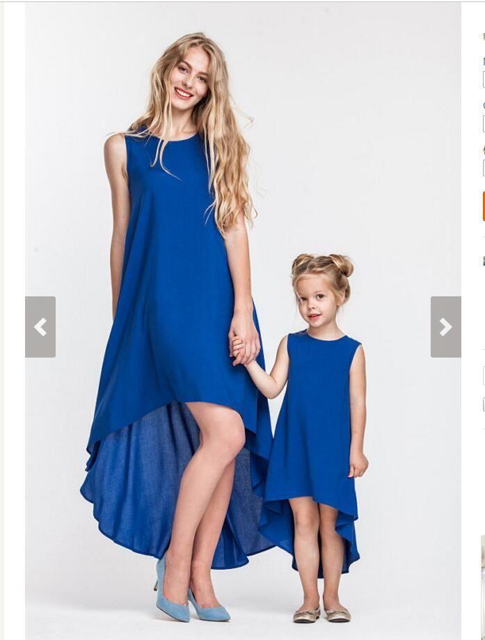 41e9ba909b82 WYT70 summer Mother daughter matching clothes matching clothes family  family matching outfits mother daughter casual dress
