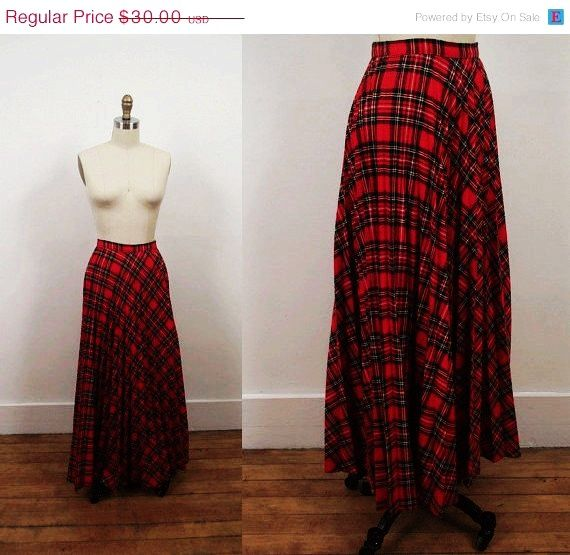 SALE 1970s Maxi Skirt / 70s Plaid Maxi - Pearl: Love It By Ihsane ...