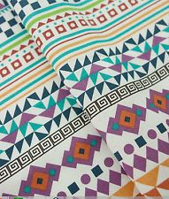 Aztec multi 100% Cotton Fabric / All sizes / Quilting fabric  (fft043)
