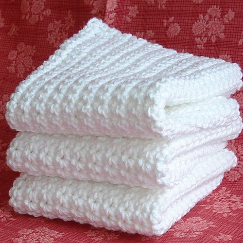 Directions for Crocheting Dishcloths