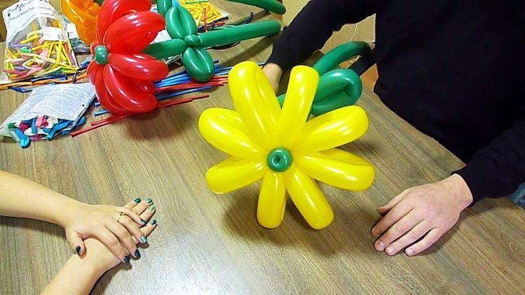 Беседы о воздушных шарах. №10: Большие цветы из четырехлистников