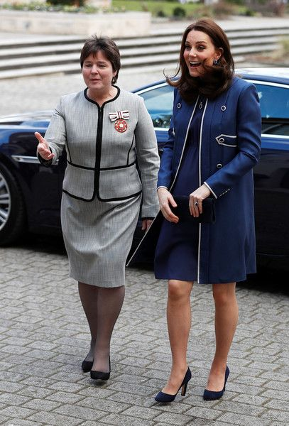 Kate Middleton Photos - Catherine, the Duchess of Cambridge, is met by Lesley Regan, President of the Royal College of Obstretitians and Gynaecologists, as she arrives to visit St Thomas' Hospital on February 27, 2018 in London, England. - The Duchess Of Cambridge At RCOG And Launching 'Nursing Now' Campaign ZIMBIO LOVELY!