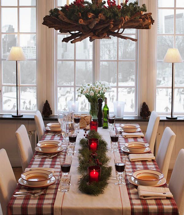 17 best images about christmas table setting ideas on - Christmas decorations interior design ...