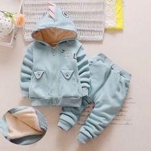 2017 Bebek Kız Elbise Sonbahar Kalınlaşmak Bebek Kız Giyim Seti çocuklar Kış Sıcak Giysiler Çocuk Kız Spor Takım Elbise Toddler 2 adet Set(China)