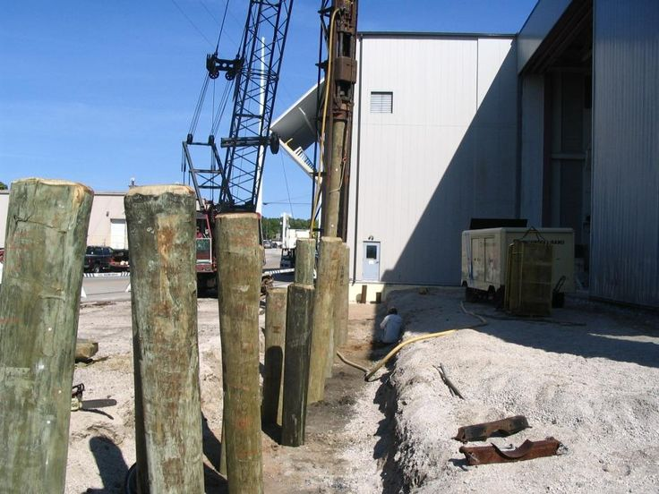 45 best images about foundations on pinterest reinforced for Wood piling foundation