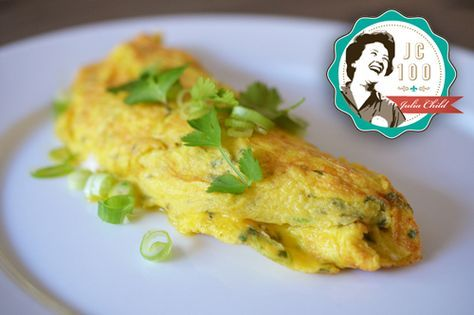 Julia Child's Rolled Omelet -- Thai Style