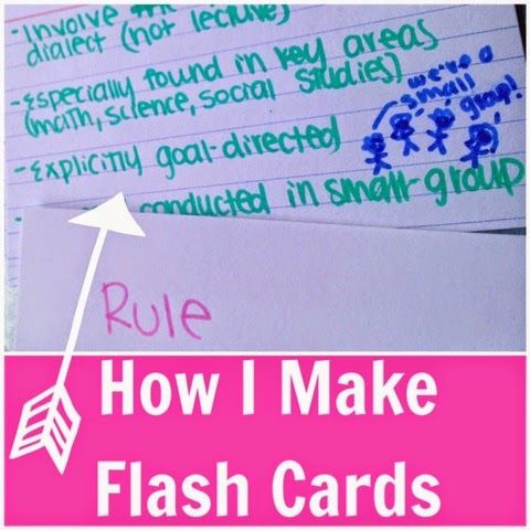 How I Make Flashcards Academic Success School, Study Tips