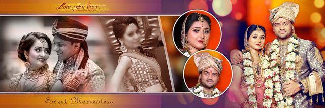 Indian Wedding Album Cover Design PSD Collection