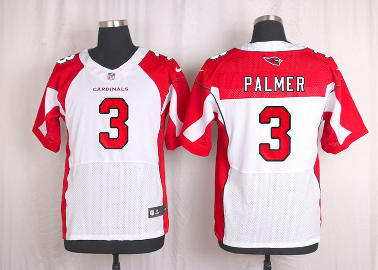 NFL Arizona Cardinals Mens Football Jersey Soccer Rugby Jerseys #3 Carson Palmer White Elite Jersey