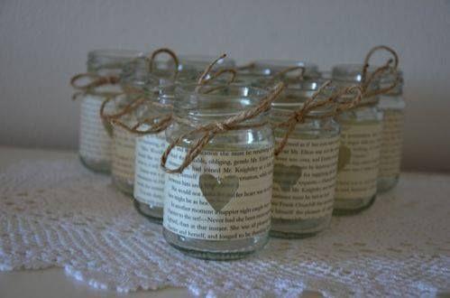 Rustic glass jars