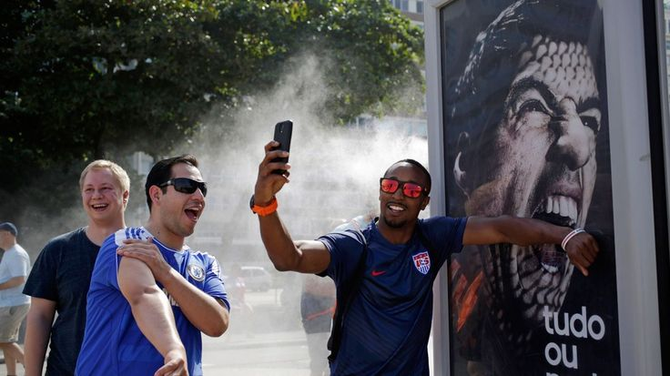 "An advertisement on Brazil's Copacabana Beach is getting more attention than its creators ever intended. The ad, featuring serial football biter Luis Suarez with the words ""all ..."