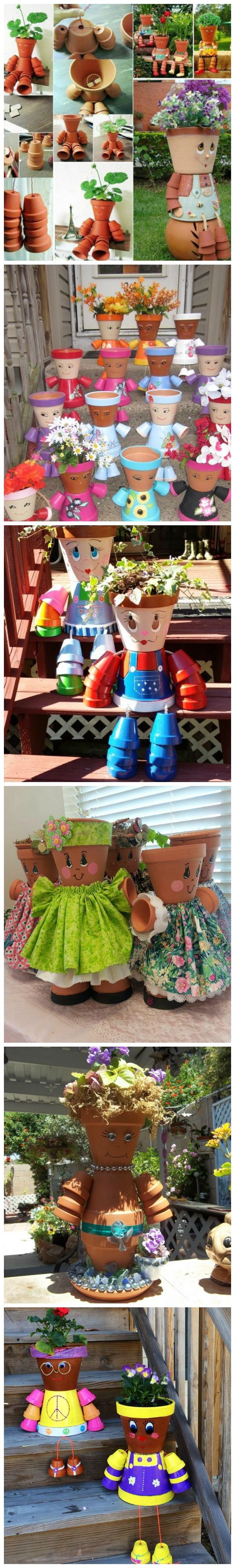 How to make Clay Pot Flower People                                                                                                                                                                                 More