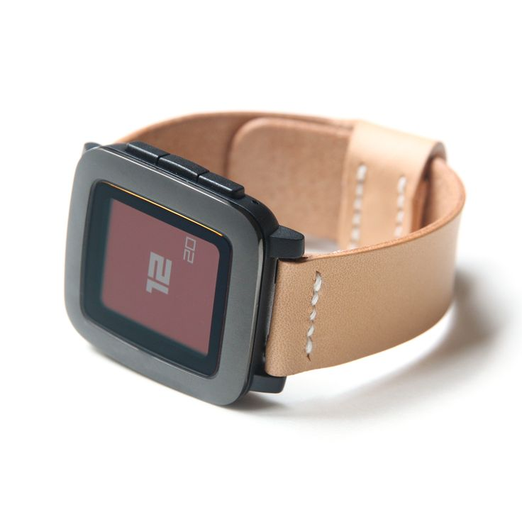 Pebble time leather band