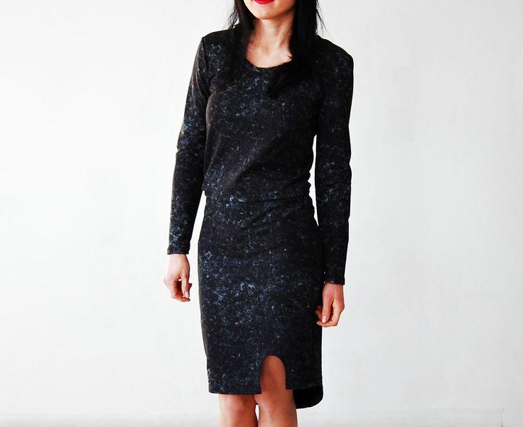 sukienka ołówkowa z rozporkiem