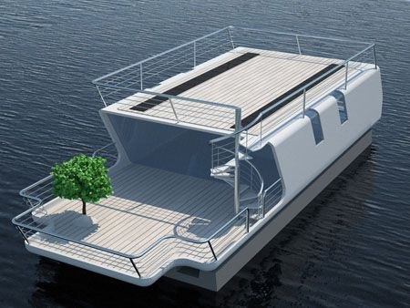 tubiQ is A Modular Concept That Combines A Boat and A Living Area