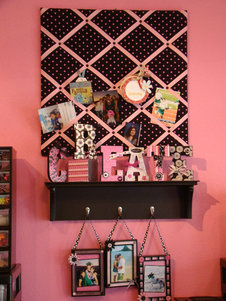 memory board shelf cute idea