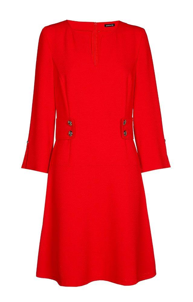 Rode jurk caroline biss online bij Deleye.be & BeKult