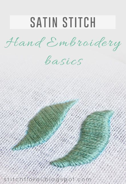 The classics of hand embroidery: satin stitch #hand_embroidery_tips, #how_to_satin_stitch, #satin_stitch_tutorial, #how_to_make_satin_stitch, #satin_stitch, #satin_stitch_tips