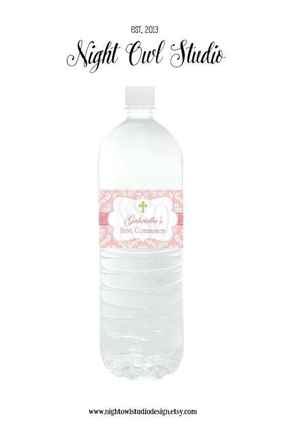 Water Bottle Labels-Drink Labels-Pink by NightOwlStudioDesign