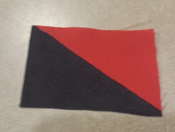 Anarcho Syndicalist Anarcho Communist Flag Patch Punk Etsy Punk Patches Red Black Flag Flag Patches