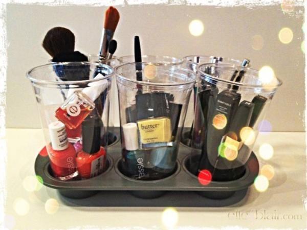 Makeup Organization: DIY Muffin Tin.