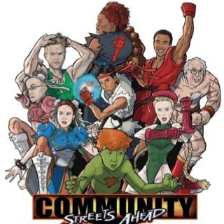 Community tv street fighter
