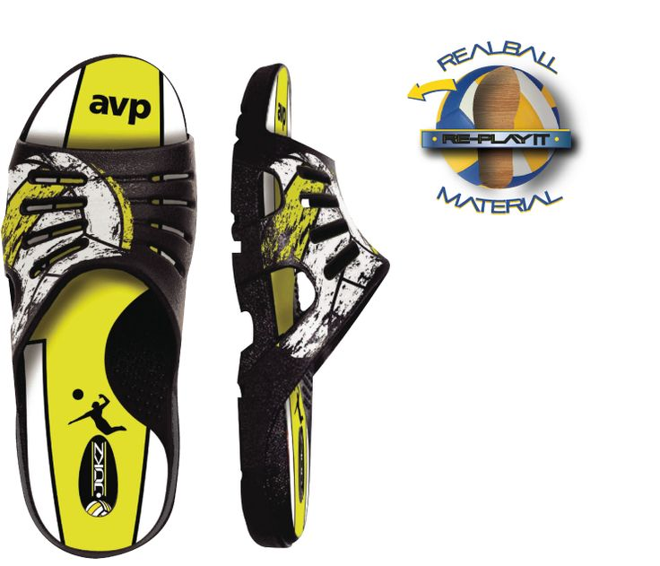 Jukz Beach Volleyball Slides. Made from real beach volley balls in the USA. #AVP