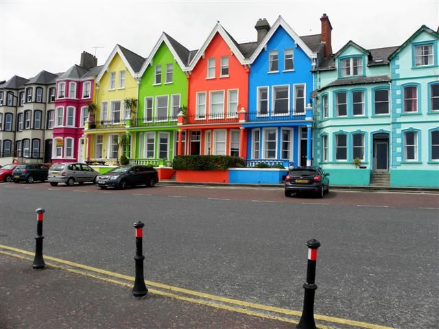 Colourful houses, Whitehead, County Antrim - Northern ...