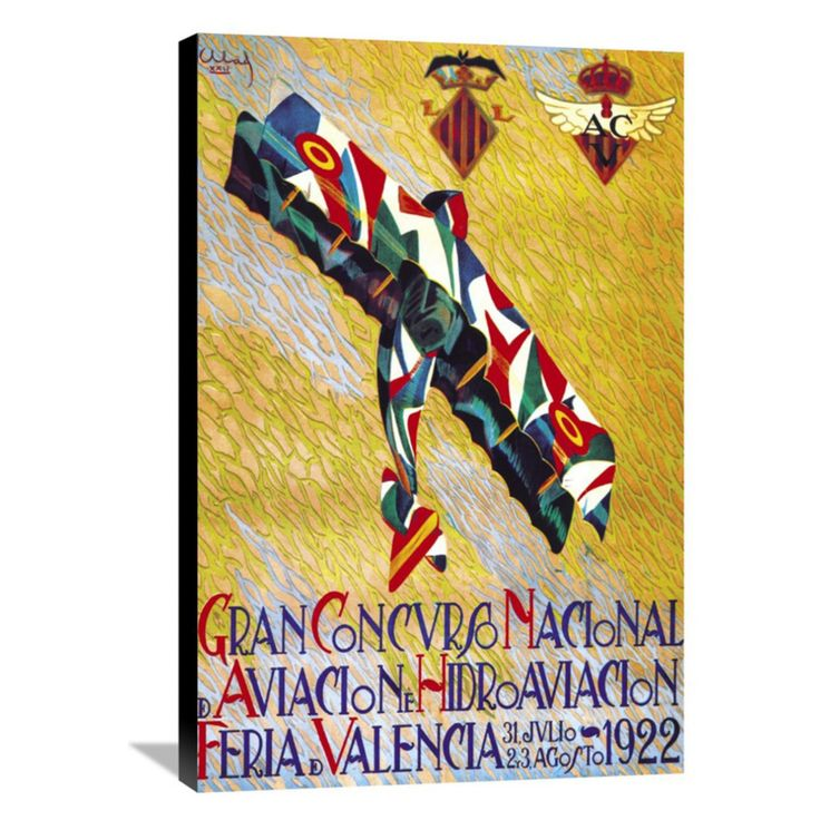 Global Gallery Gran Concurso Nacional de Aviacion y Hidroaviacion Wall Art - GCS-382148-1624-143