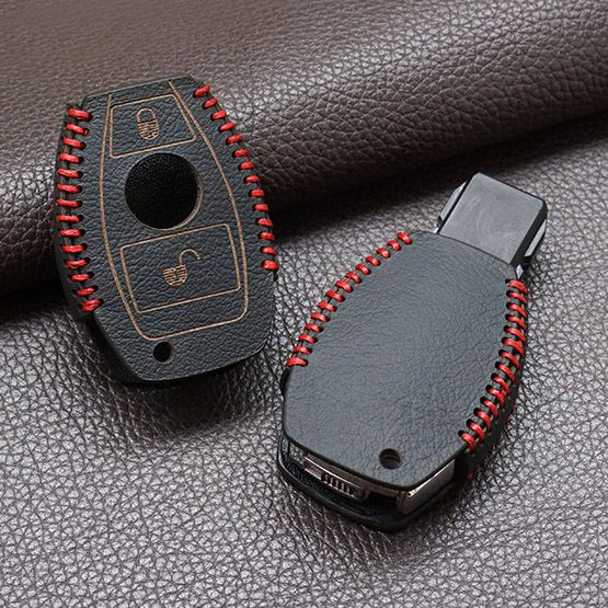 Genuine top quality leather cover car key set case for Mercedes Benz Cla A180 A200 A260 A Classe C-E-S-class-w203. 2 two buttons keychain keyring aliexpress.com