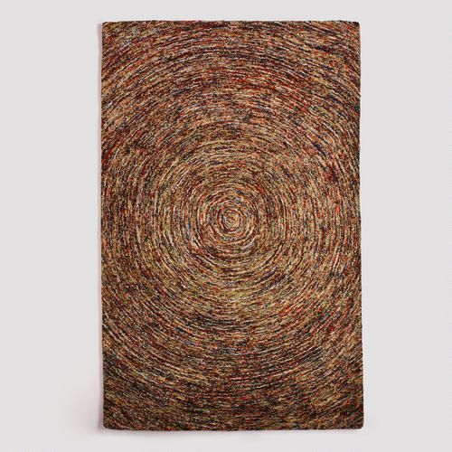 Multicolor Swirl Hooked Wool Rug (WM, $525) (but Not For