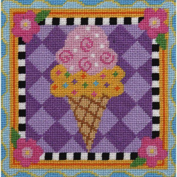 Easy Needlepoint Kit<BR>Ice Cream Cone