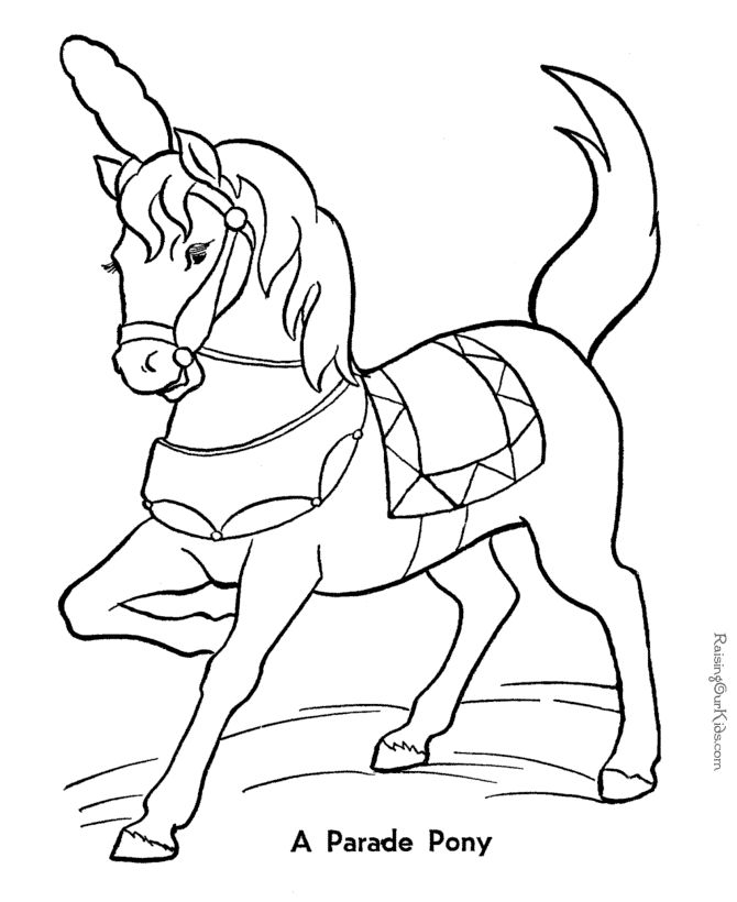 Free printable horse pictures to color