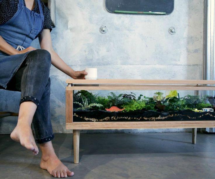 I want one!  Terrarium Table